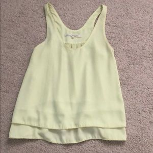 Rachel roy like green sleeveless blouse